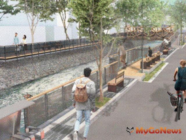 內政部營建署補助台中市綠川水環境改善計畫開工2018年底將呈現文藝風貌水岸景觀(圖:營建署)