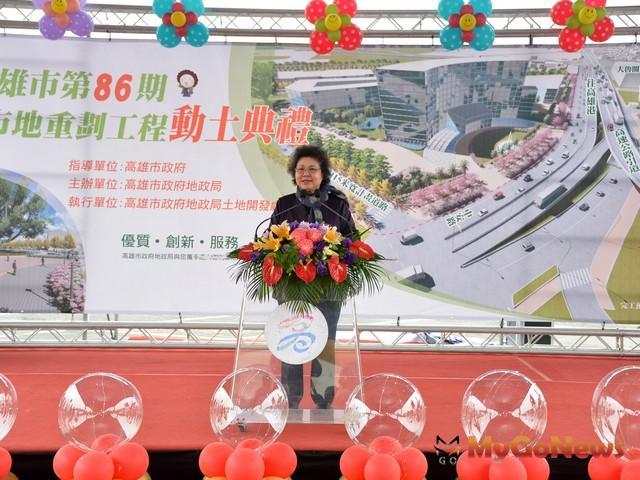 第86期市地重劃動土 陳菊:活絡地方經濟(圖:高雄市政府)