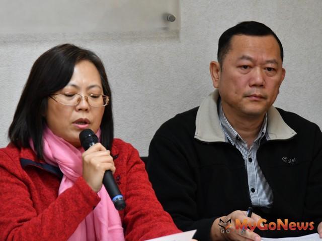 內政部營建署主任秘書陳貞蓉說明內政部將全力推動違建查處(圖:內政部)