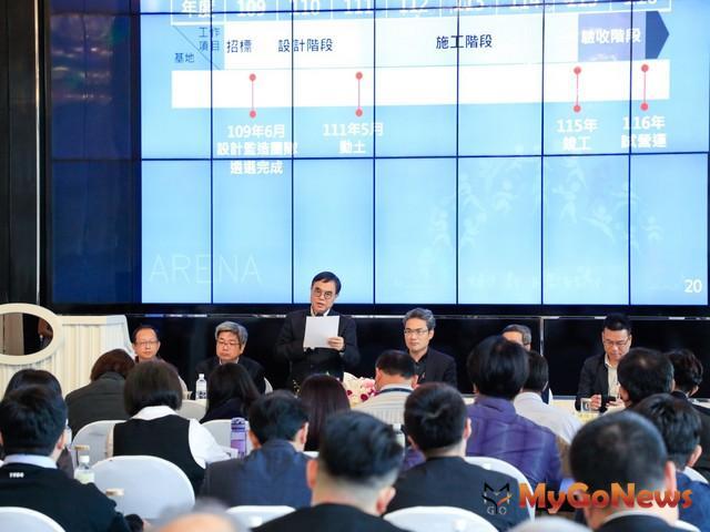 市府都市發展局長黃文彬表示,「台中市巨蛋體育館」預計於2022年動土(圖:台中市政府)