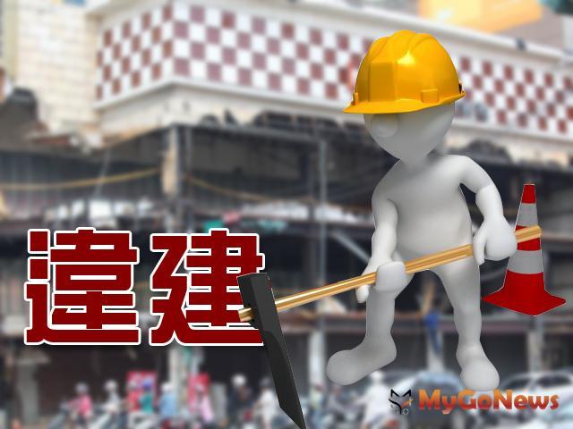 台中西屯區惠中三街及市政北七路口某建案樣品屋疑涉違建