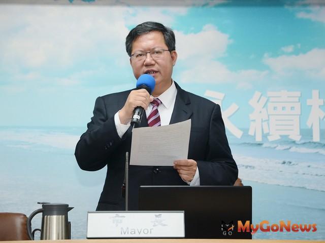 鄭文燦:掌握捷運綠線工程期程、按招標規範依序施作(圖:桃園市政府)