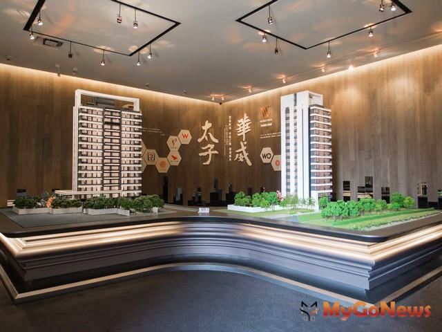 不用振興券免貸款 2020年豪宅流行這樣買,圖為「太子華崴」建築立面模型 MyGoNews房地產新聞 市場快訊