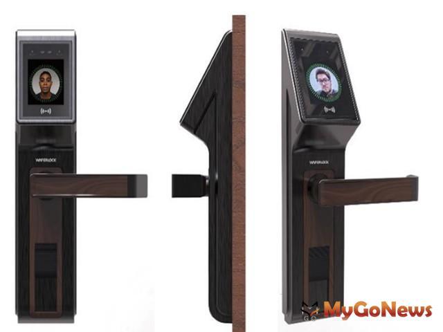 WAFERLOCK維夫拉克於台北國際建築建材暨產品展正式推出台灣第一支「3D人臉辨識電子鎖」(圖:業者提供)