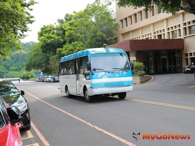 淡海新市鎮自動駕駛電動巴士示意(工業技術研究院提供)