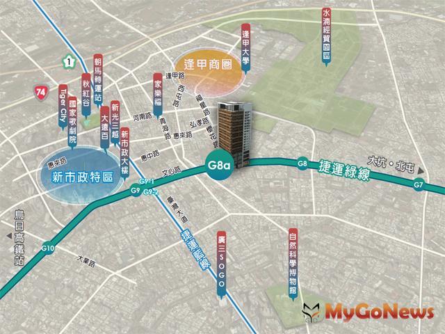 軌道經濟!中市捷運綠線G6、G8a基地招商