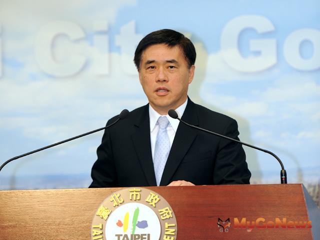 台北市長郝龍斌2012年3月29日主動召開記者會,說明市府在執行中承受巨大壓力。(圖片提供:台北市政府)