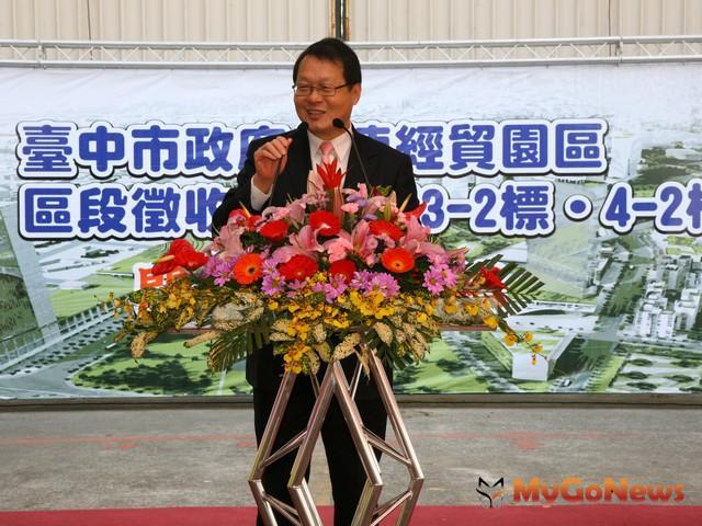 副市長蕭家淇強調,第一標工程進度已達90%,水湳整體建設已有具體進度。(圖:台中市政府) MyGoNews房地產新聞 區域情報