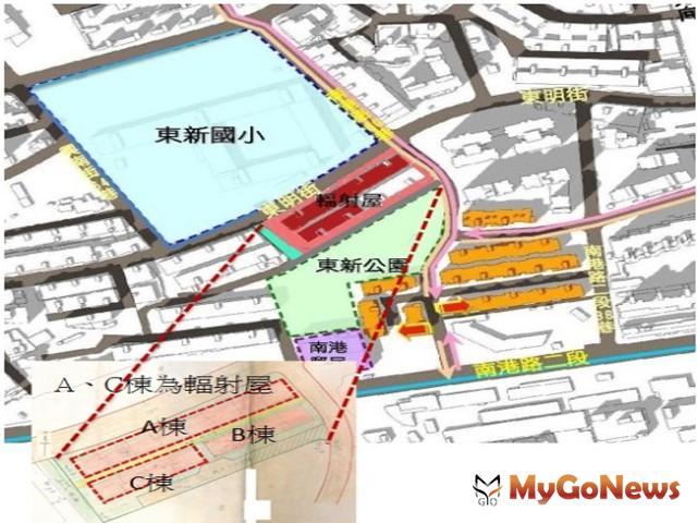 【台肥新村更新單元位置圖】(圖:台北市政府)