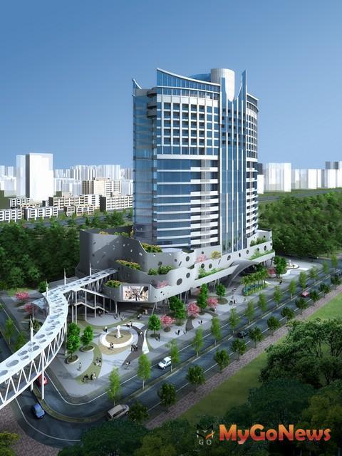 引入國際複合式規劃概念,打造購物商場、辦公室、渡假飯店三合一建築