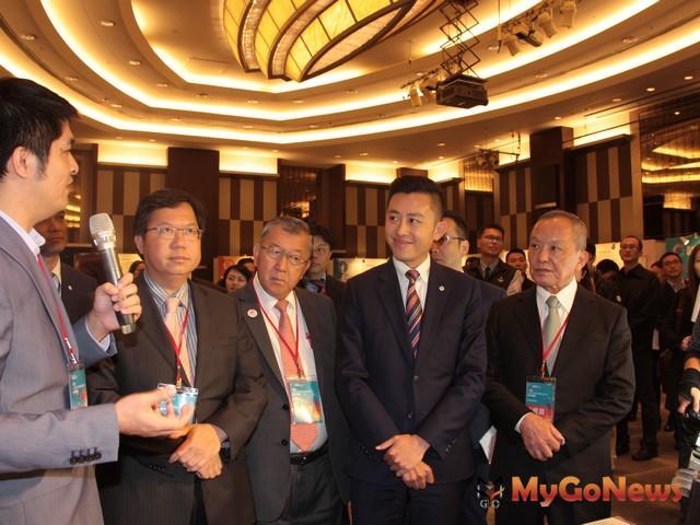 林智堅(右二):北台8縣市,持續推動智慧綠能產業,「北台區域發展推動委員會」下一屆由基隆市主辦