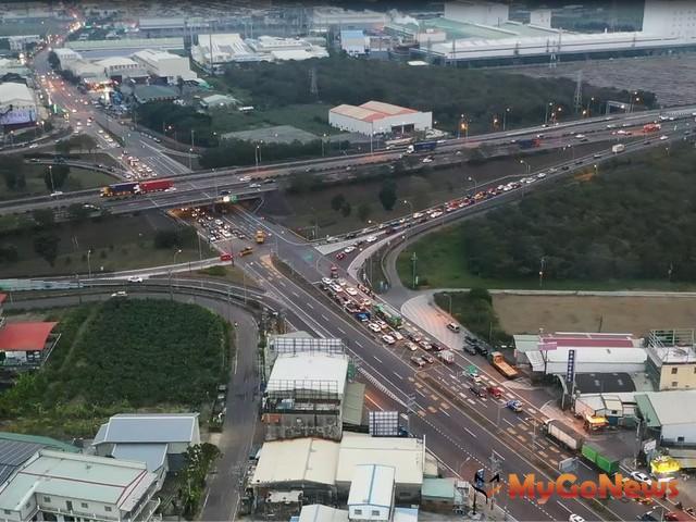 國道1號增設岡山第二交流道可行性研究獲交通部有條件通過(圖:高雄市政府)