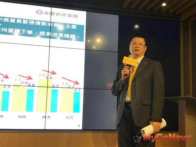 永慶房產集團業務總經理葉凌棋表示:2019年上半年交易量估14.0-14.3萬棟之間,較2018年同期成長3%-5%左右
