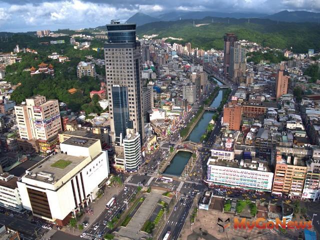 過去連田寮河兩旁的市中心精華區也被列入山坡地(圖:基隆市政府)