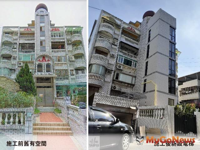 補助增設電梯完工案例分享(內湖區大湖山莊街169巷之5層樓公寓),圖片提供/台北市政府