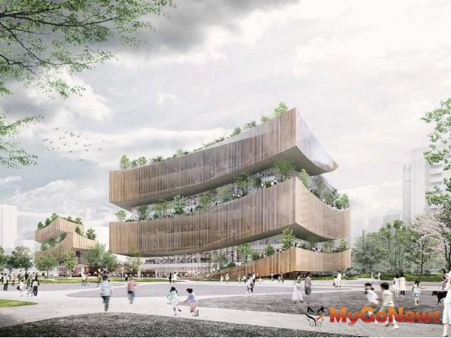 「桃園市立圖書館新建總館」已取得建造執照,將儘快進行後續進度,以2022年完工營運為目標(圖:桃園市政府)