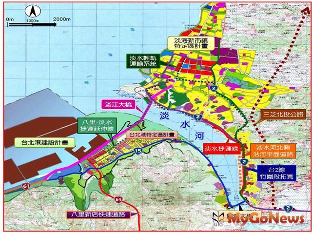 壅塞惡夢不再,淡江大橋都市計畫變更審議通過(圖:新北市政府)