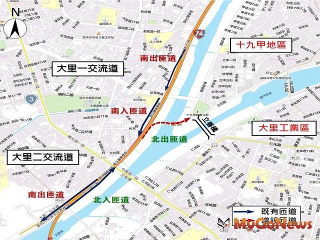 交通部核定台74線十九甲北出匝道可行性評估 預計2024年6月完工(圖:交通部) MyGoNews房地產新聞 區域情報
