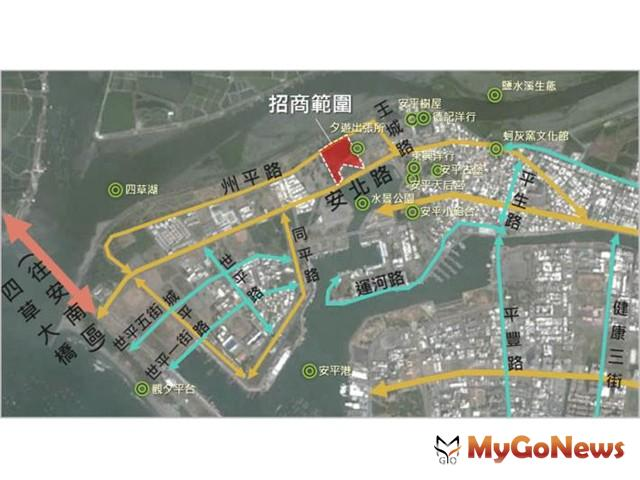 安平古堡段都市更新案10月底起公告招商(圖:台南市政府)