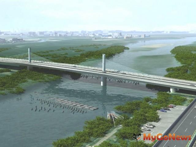 「溪洲橋」預計於2014年7月下旬完工,將為新竹市、縣帶來全新面貌(圖:營建署)