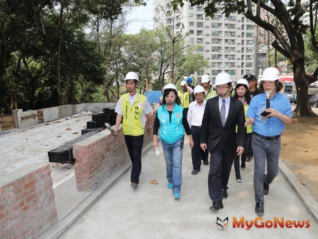 李孟諺:永康公七公園預計2019年1月底完工(圖:台南市政府)