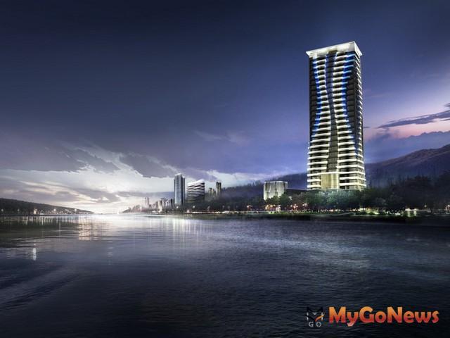 全球水岸豪邸競逐高價,「達麗世界灣」位於台北紅樹林國際富人灣核心(圖:業者提供)