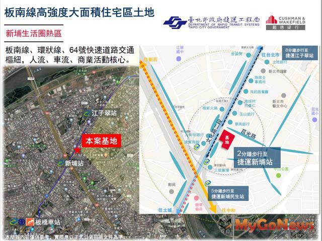 捷運板橋線新埔站(捷三)毗鄰地土地開發案徵求投資人 招商說明會(圖:戴德梁行)