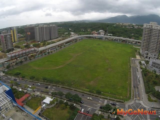 淡海新市鎮輕軌捷運淡水行政中心站,周邊土地整體開發規劃將帶動新市鎮加速發展(圖:營建署)