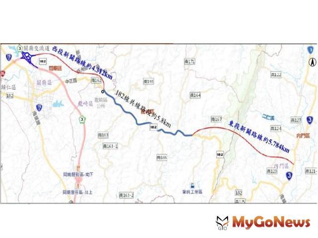 台86線向東延伸至台3線道路新闢案過關 再添交通效益(圖:台南市政府)