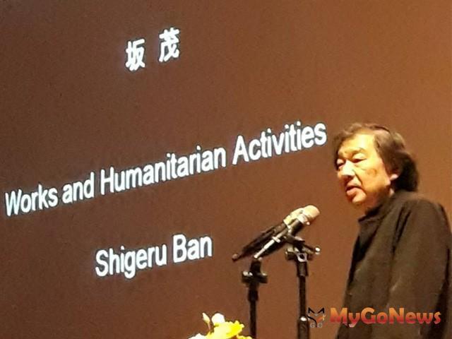 普立茲克建築獎日本大師坂茂(Shugeru Ban)談建築創作與社會貢獻 提升建築界國際化視野(圖:台中市政府)