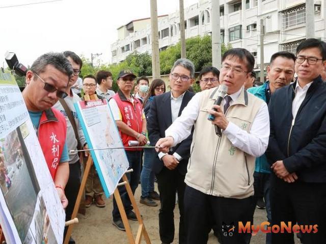 陳其邁:中央與地方充分合作 致力解決台南淹水問題(圖:台南市政府)
