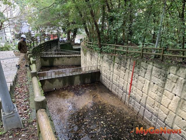 台北市山坡地列管沉砂池完成清淤 做好防汛準備超前佈署(圖:台北市政府)