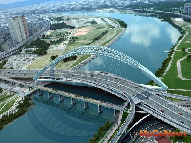 中正橋改建工程完工模擬示意圖(圖:台北市政府)