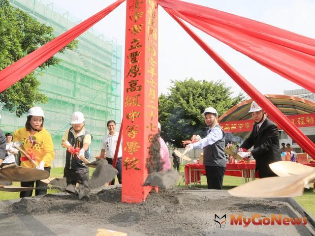 豐原高中921危樓改建等待多年 新樓動土2019年8月完工(圖:台中市政府)