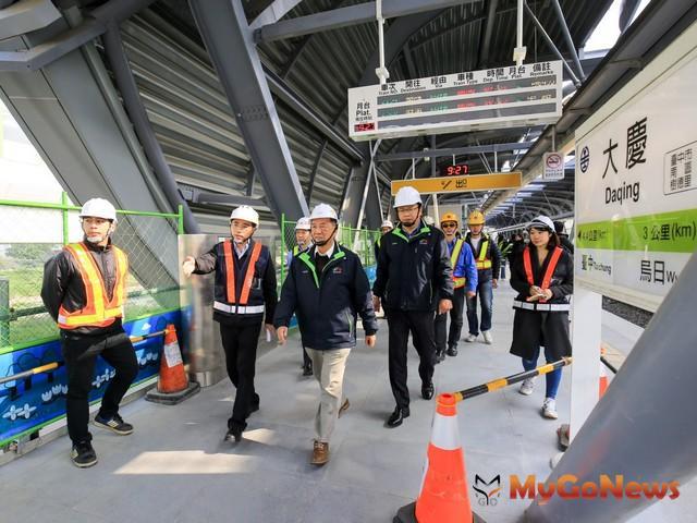 林陵三視察捷運綠線與台鐵連通工程 肯定進度並提醒做好春節安全整備(圖:台中市政府)