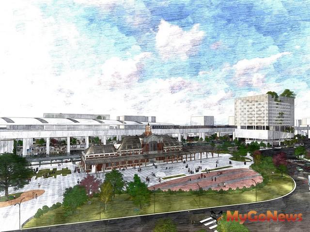 台鐵局與德昌營造之特許公司共同舉辦「台中鐵道文化園區促參案簽約典禮」(示意圖)