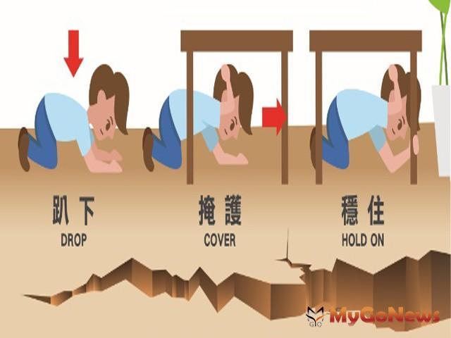 921國家防災日全民地震演練 請記得「趴下、掩護、穩住」(圖:內政部)