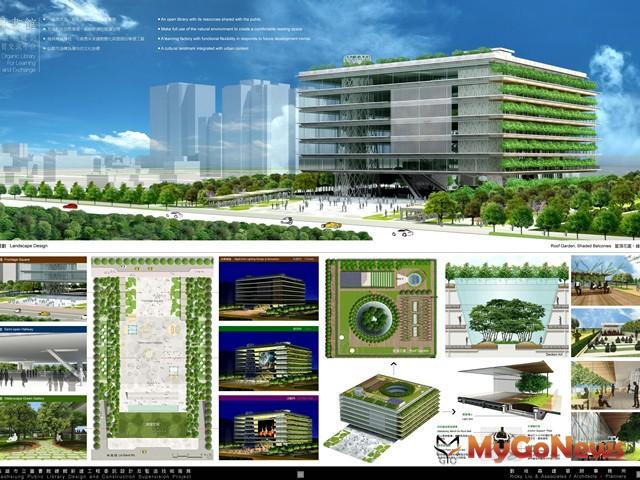 市圖總館預定在2014年底完工,完成後將成為高雄市亞洲新灣區計畫中最亮麗的文創新地標。(圖片提供:高雄市政府)
