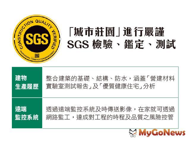 城市莊園 SGS第三方國家級認證,品質保證,層層把關,要把建築物做到最好