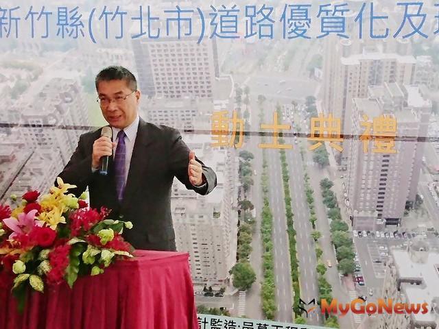 打造綠色路網,前瞻助竹北市道路品質改善,徐國勇出席致詞肯定中央地方齊心建設(圖:內政部)