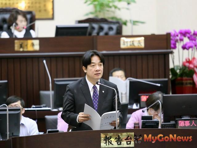 台南市議會第二屆第五次定期大會開議,賴清德進行施政總報告(圖:台南市政府)