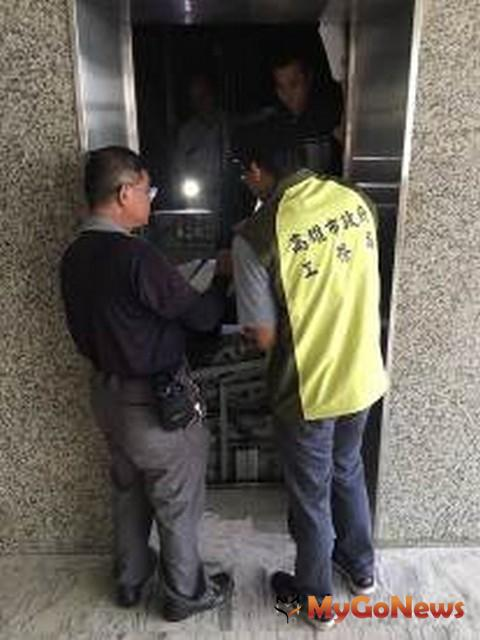 高雄市工務局加強檢查電梯,維護市民搭乘安全(圖:高雄市政府)