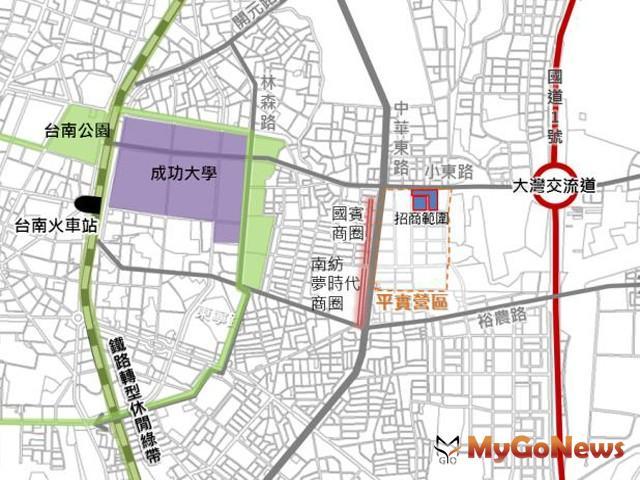 東區平實營區都市更新案正式公告招商,活化土地打造東區副都心(圖:台南市政府)