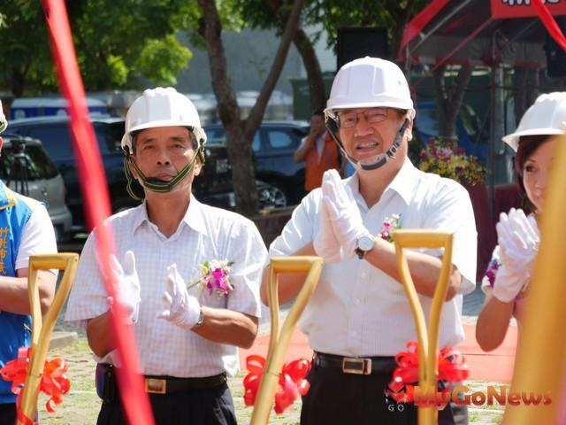 竹北市停6停車場開工,未來光明商圈停車更便利(圖:新竹縣政府)