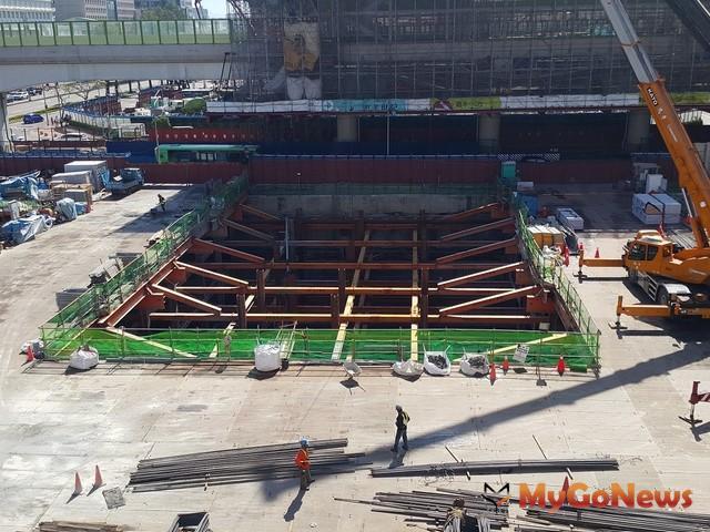 中市捷運 綠線共構場站全數完成地下開挖,招商同步進行(圖:台中市政府)