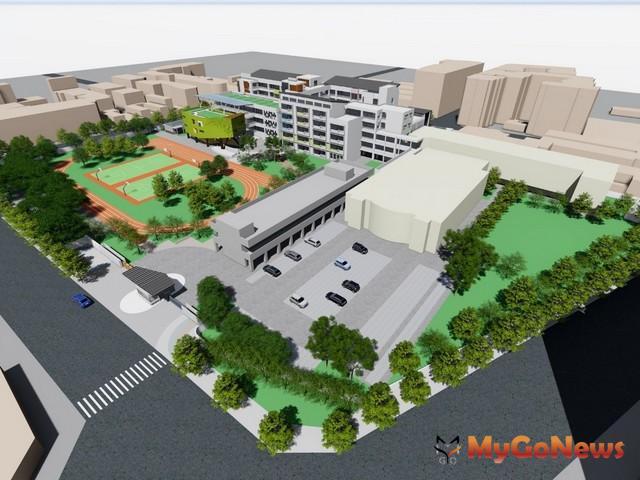 桃園市立八德國小老舊校舍整建工程已完成細部設計(圖:桃園市政府)