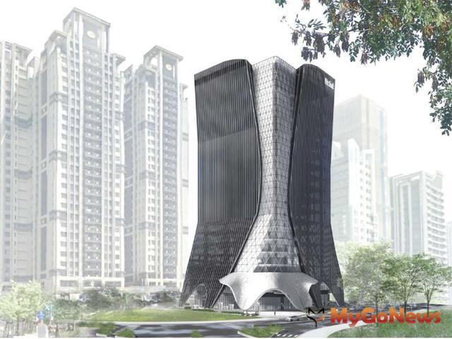儒鴻企業新莊副都心企業總部,規劃地下4層樓、地上19層建築。圖/儒鴻企業提供