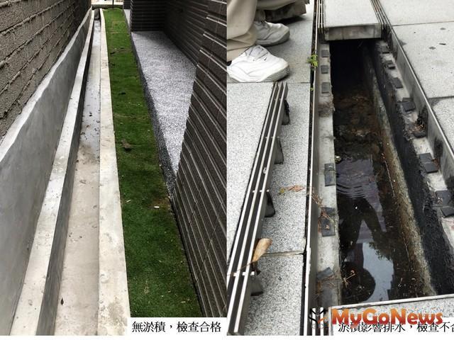 新北透水城市不容破口,維護透水保水設施你我有責,基地排水溝檢查情形對照圖(圖:新北市政府)
