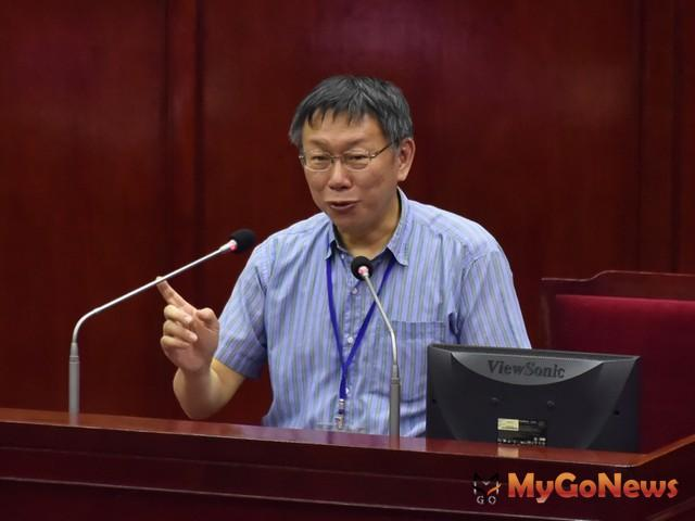 赴立院前瞻建設公聽會報告,柯文哲:台北市是最有能力做前瞻計畫的首都,以務實的態度提出相關需求