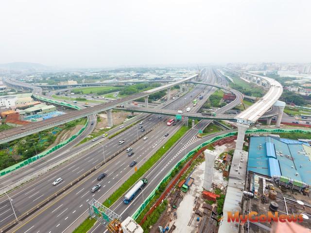 五楊快速道路的五股中壢段在2013年初可通車
